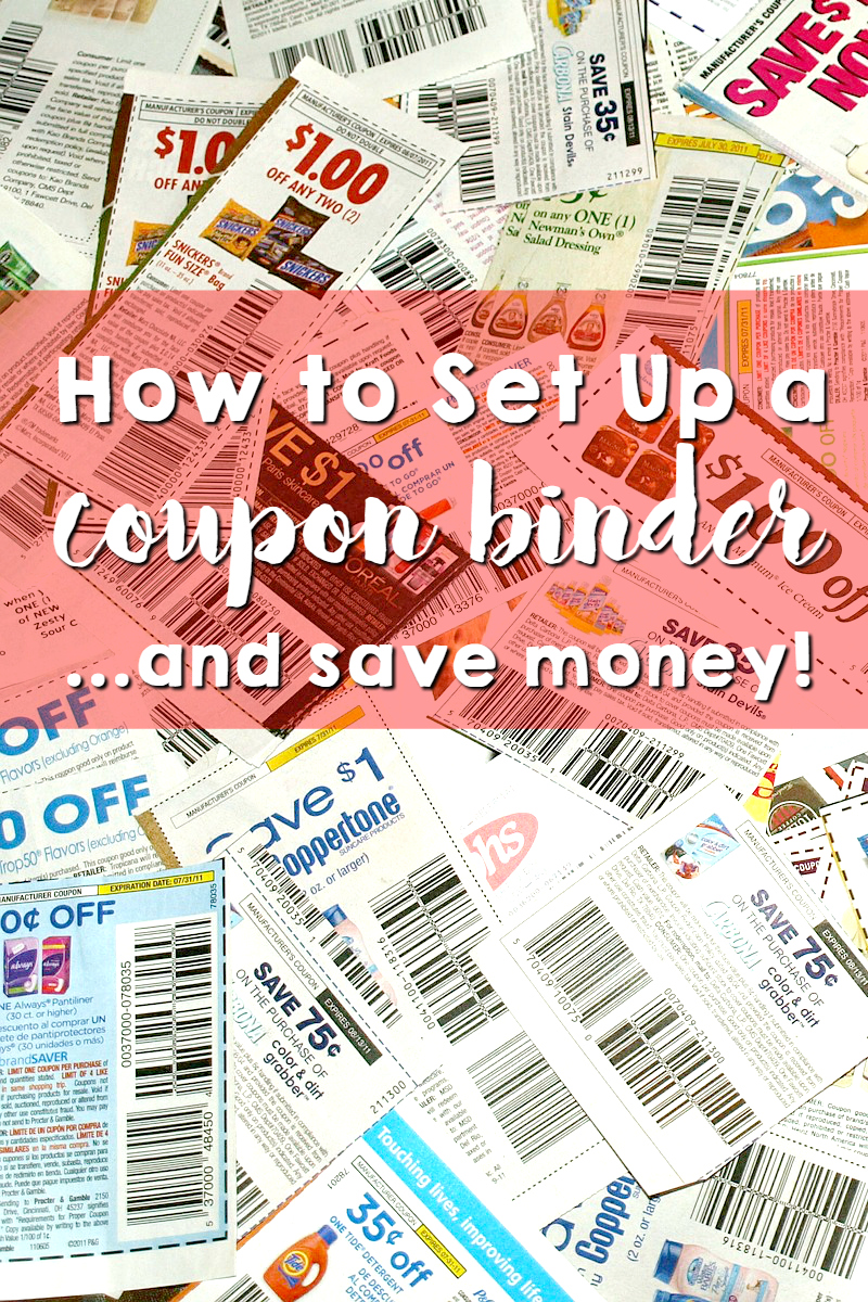 how to set up a coupon binder