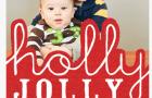 tiny prints holiday card