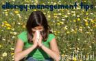 allergy management tips