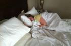 sleeping in a hotel