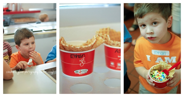 brusters ice cream party