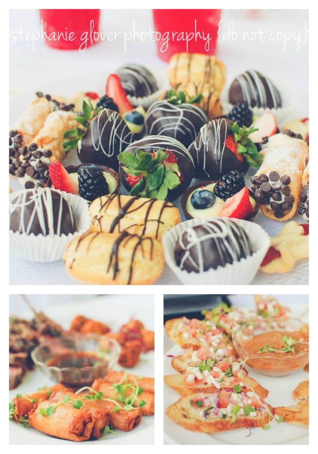 congress hall wedding food