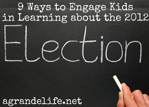 9 ways to engage kids in learning about the 2012 election