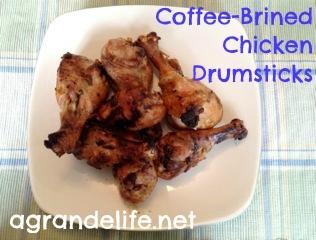 coffee-brined chicken drumsticks