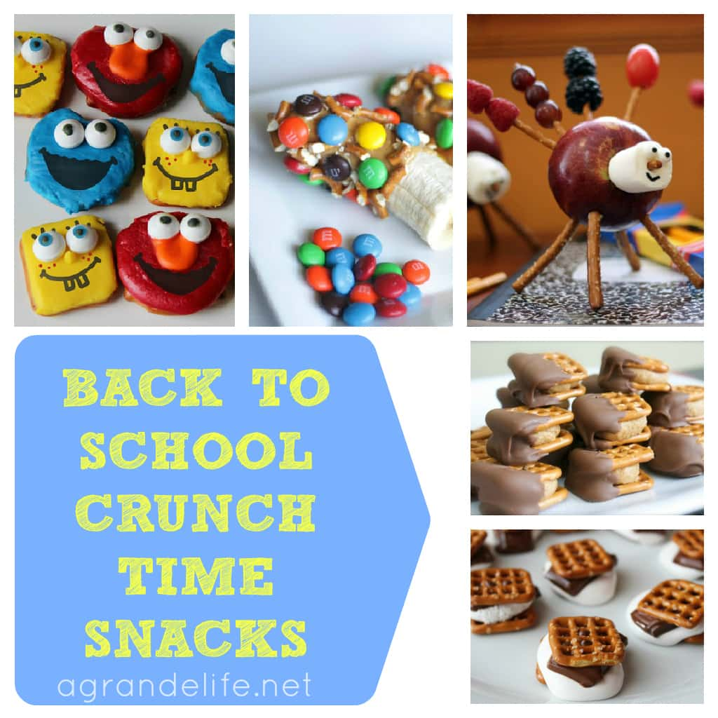 back to school crunch time snacks