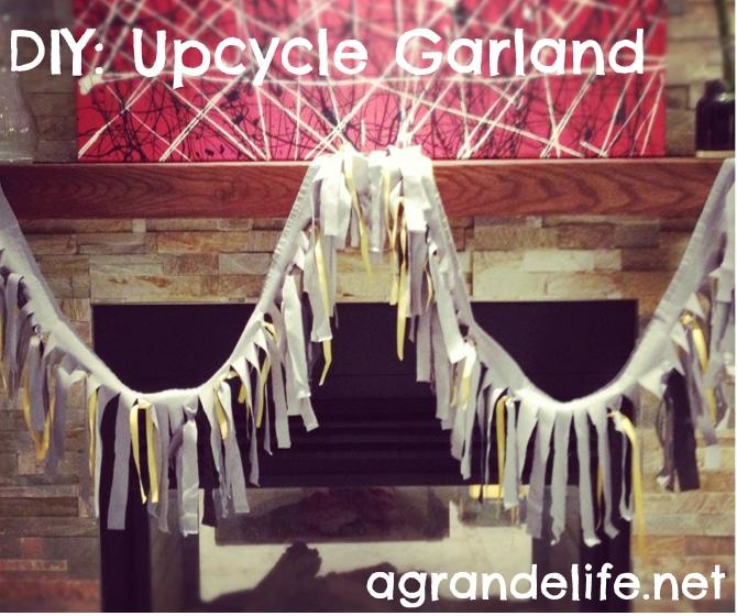 diy upcycle garland