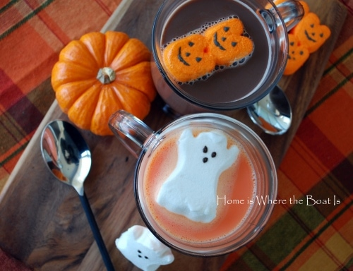 ghostly orange hot chocolate