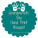 Happy Grandparent's Day: Hand Print Bouquet