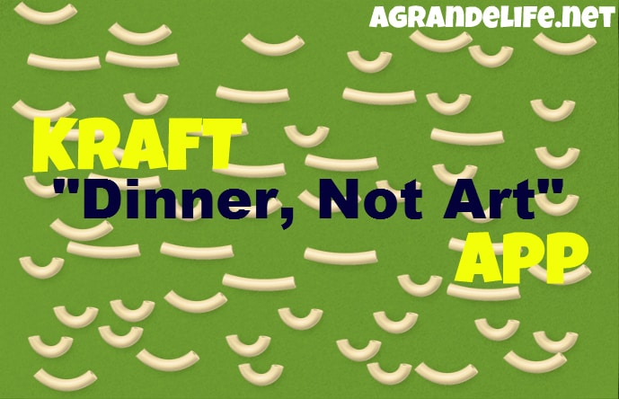kraft dinner not art app