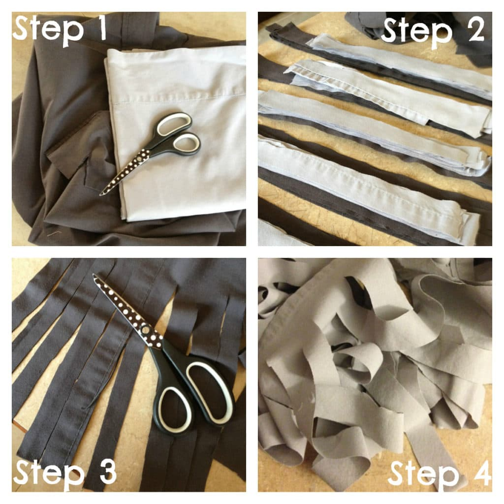 steps for diy upcycle garland