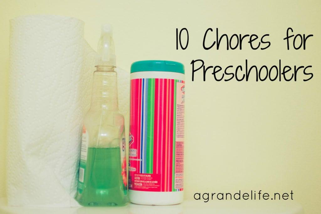 10 chores for preschoolers