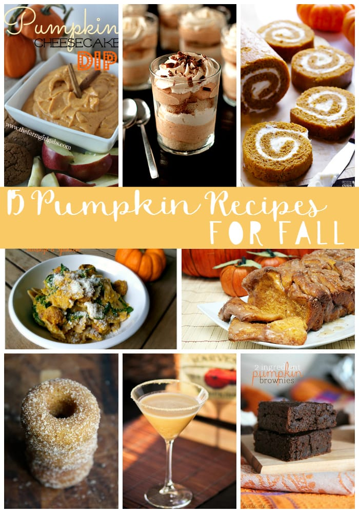 15 pumpkin recipes for fall