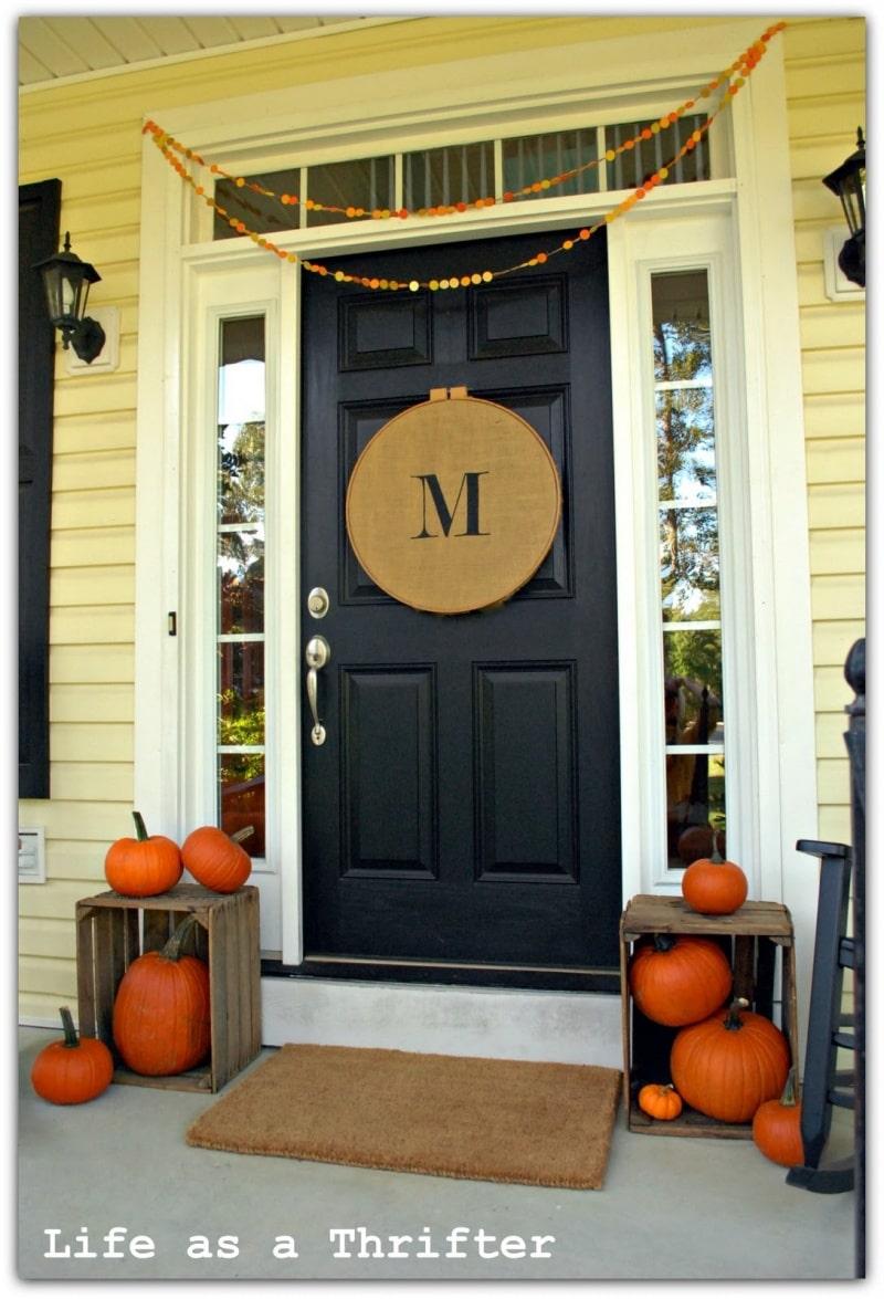 Fall decorating ideas - Front door entrance decorating ideas ...