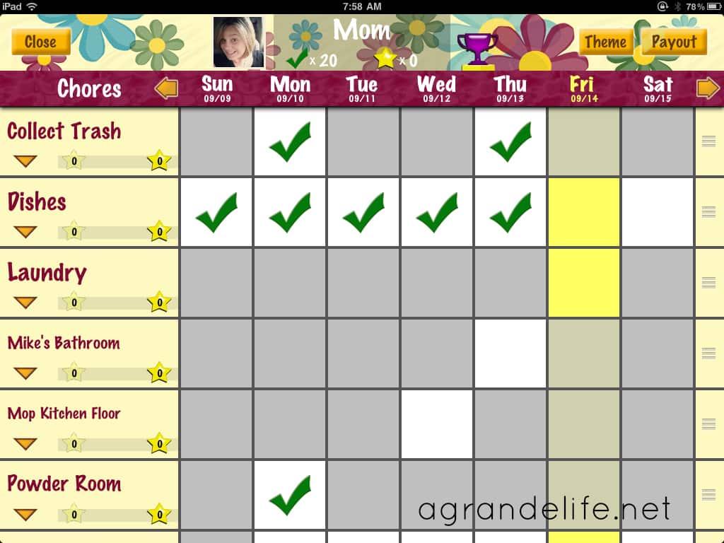 chores for preschoolers using chore pad app