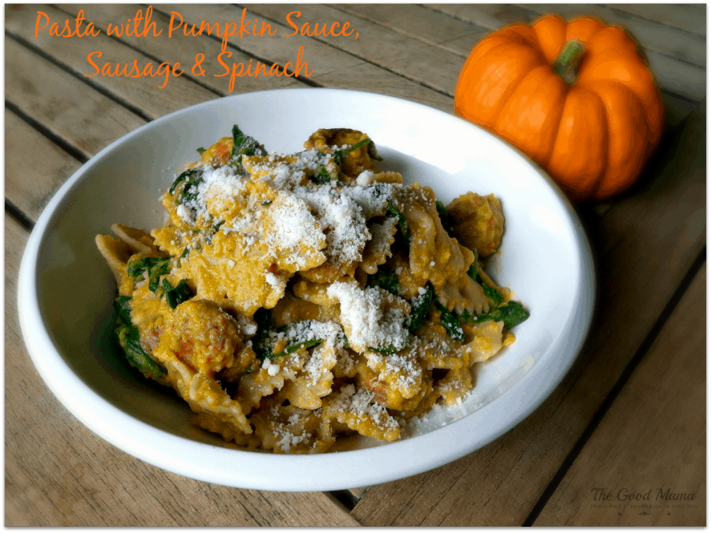 pasta-with-pumpkin-sauce-sausage-and-spinach-Facebook--1024x768