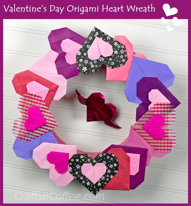 diy-origami-heart-wreath
