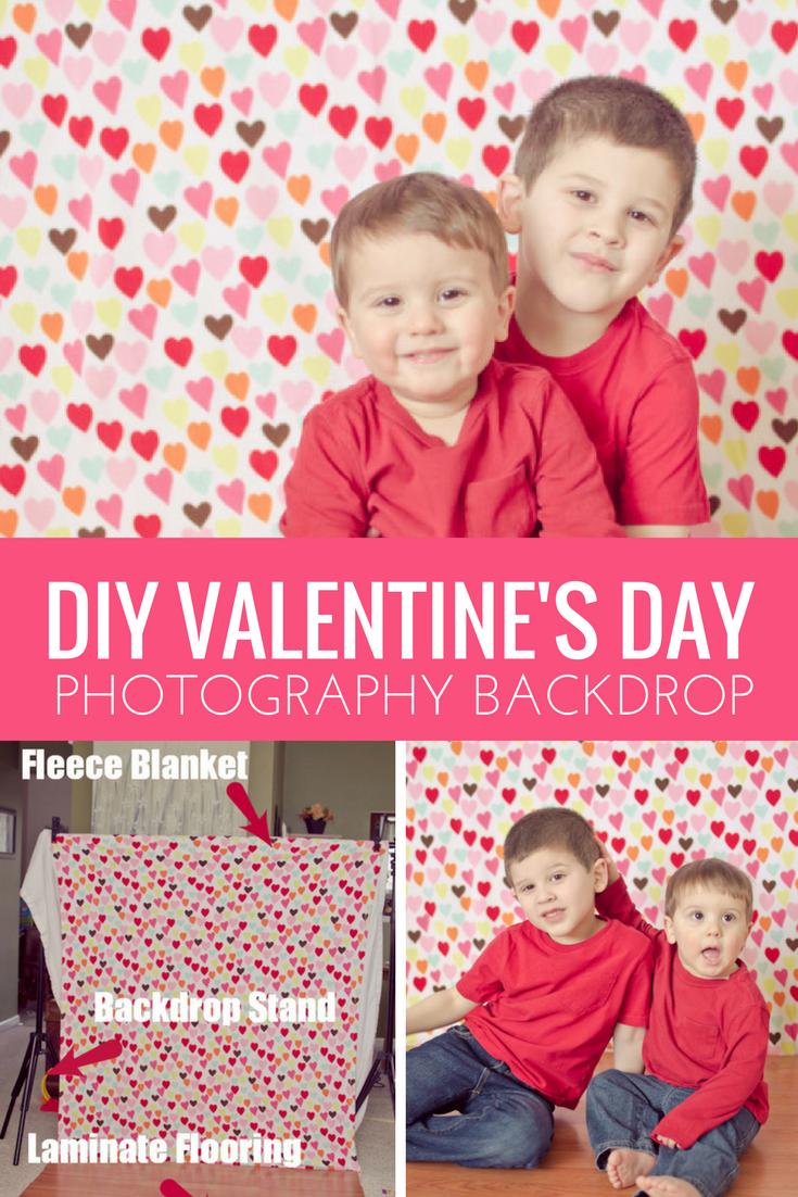 DIY Valentine's Day Photography Backdrop