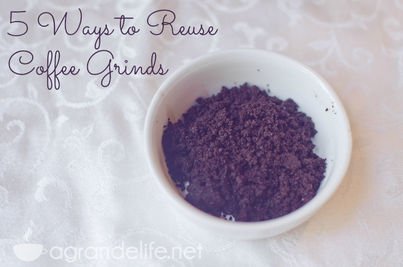 5 ways to reuse coffee grinds
