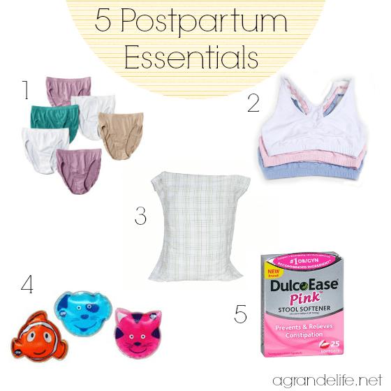 5 postpartum essentials