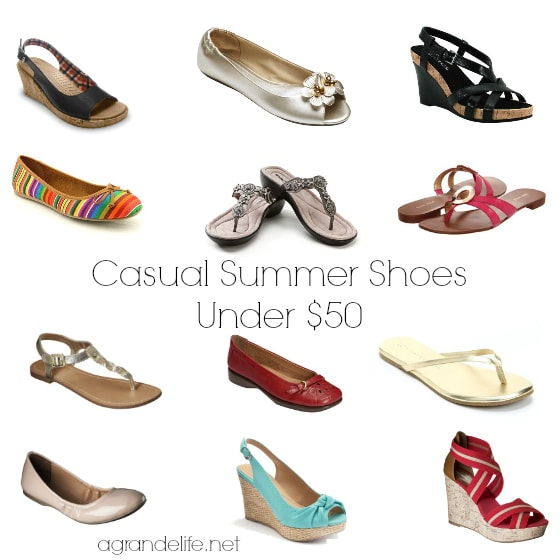casual summer shoes under $50