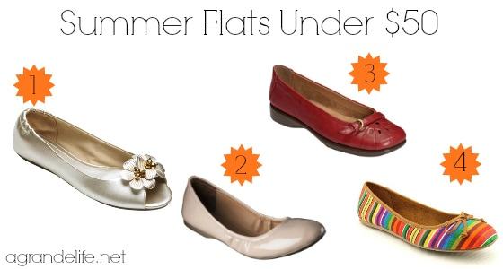 summer flats under $50