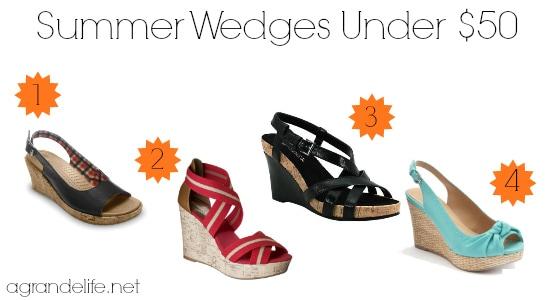 summer wedges under $50