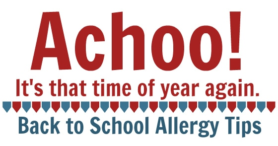 back to school allergy tips