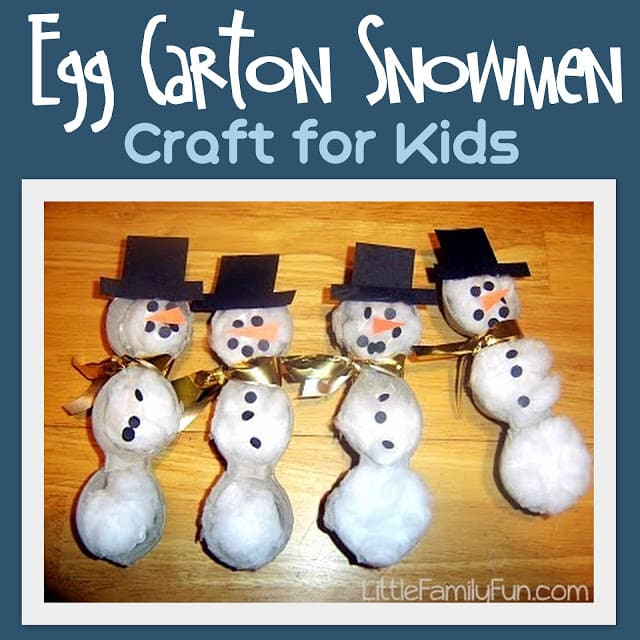 25 christmas winter crafts for kids for Christmas decorations using egg cartons