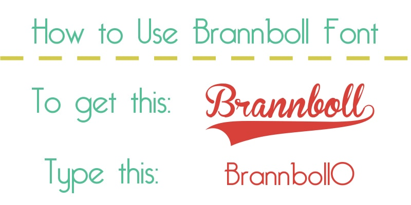 how-to-use-brannboll font