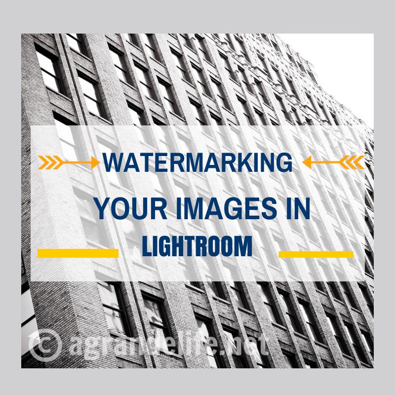 Watermarking Your Images in Lightroom
