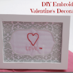 Simple DIY Embroidered Valentine's Day Decoration