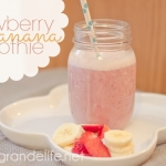 Strawberry Banana Silk Almond Milk Smoothie-6