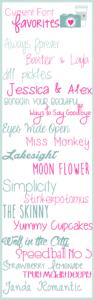 current font favorites