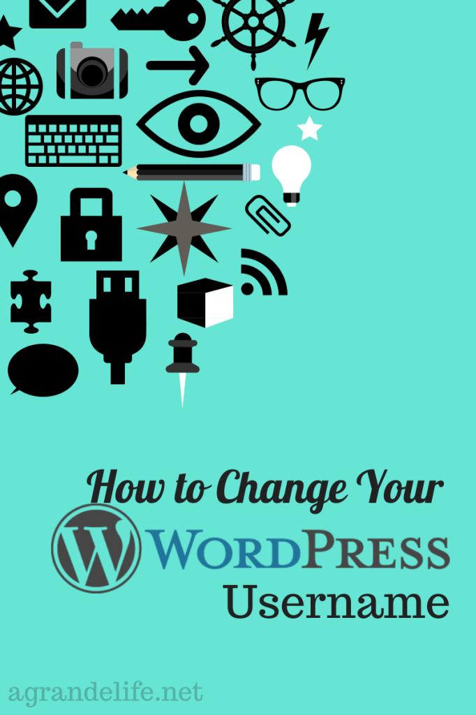 how to change your wordpress username