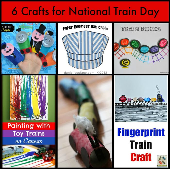 6 crafts for national train day