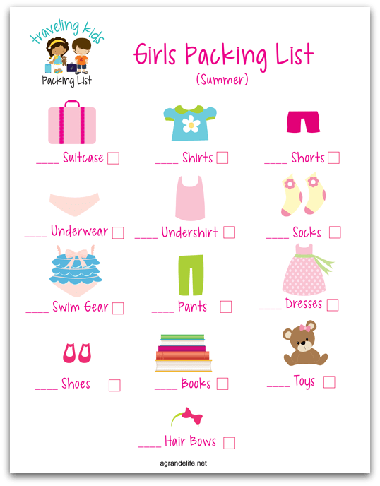 agrandelife traveling kids packing list girl shadow