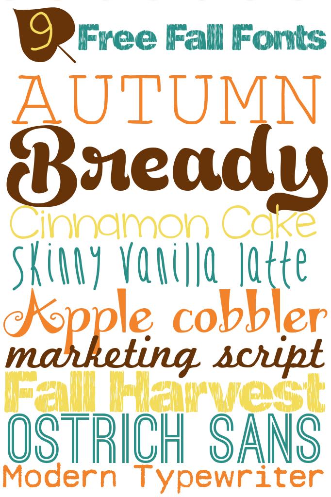 9 free fall fonts