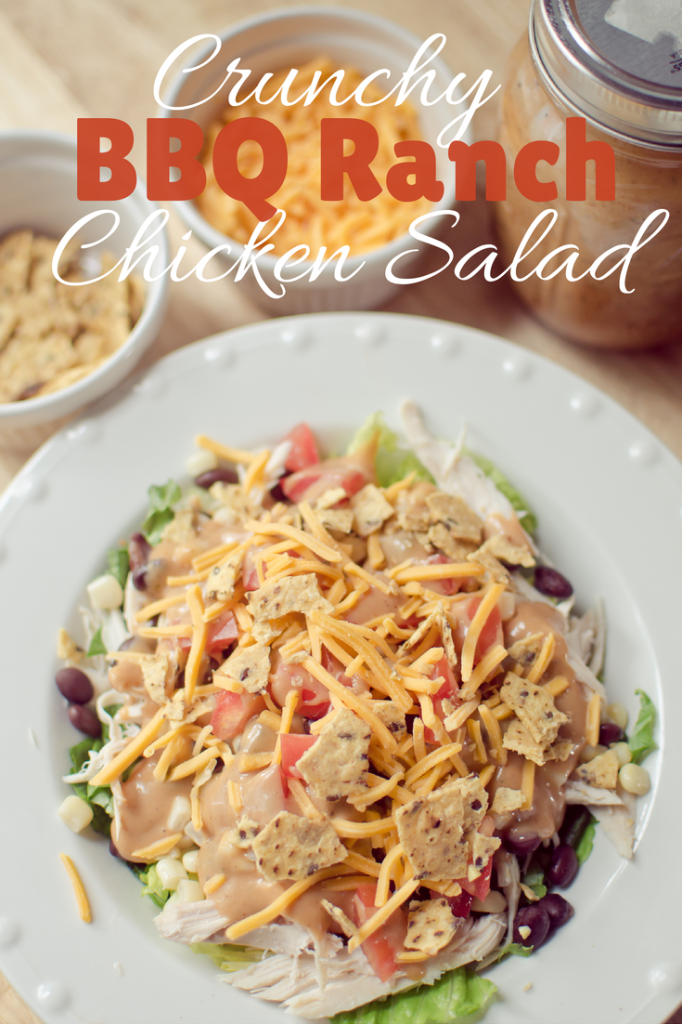 crunchy bbq ranch chicken salad