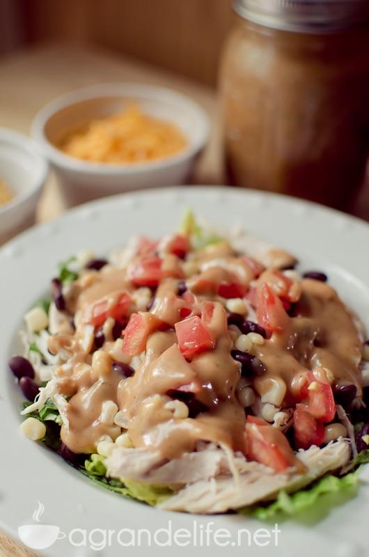 crunchy bbq ranch chicken salad-10