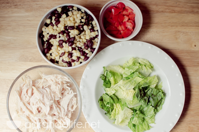 crunchy bbq ranch chicken salad-5