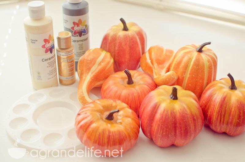 DIY Faux Painted Pumpkins supplies-1
