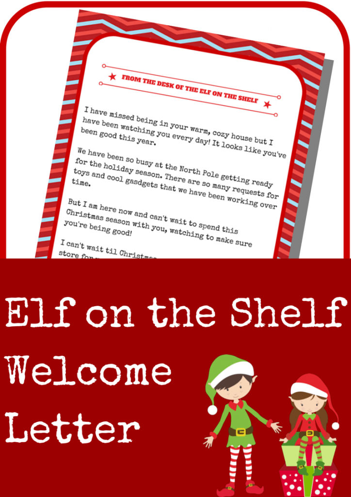 If you had an Elf in the past, this Welcome Back letter will fill the ...