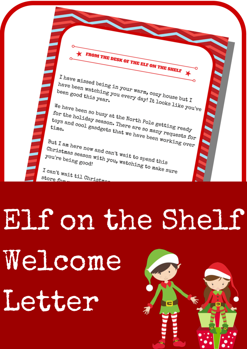 It is a picture of Adorable Printable Elf on the Shelf Letter