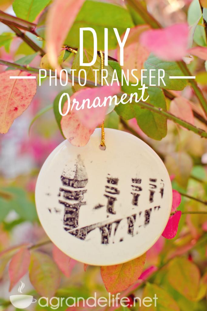 diy photo transfer ornament