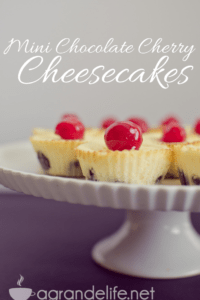 Mini Chocolate Cherry Cheesecakes