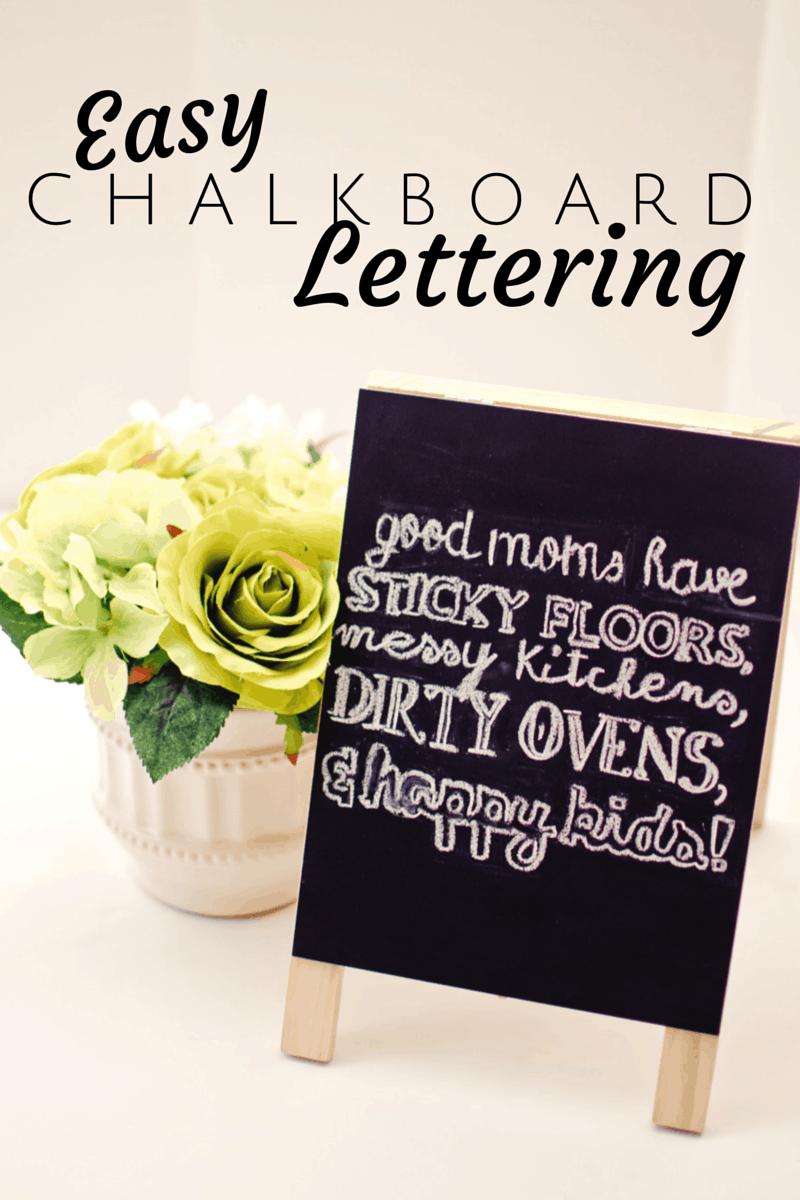 easy chalkboard lettering