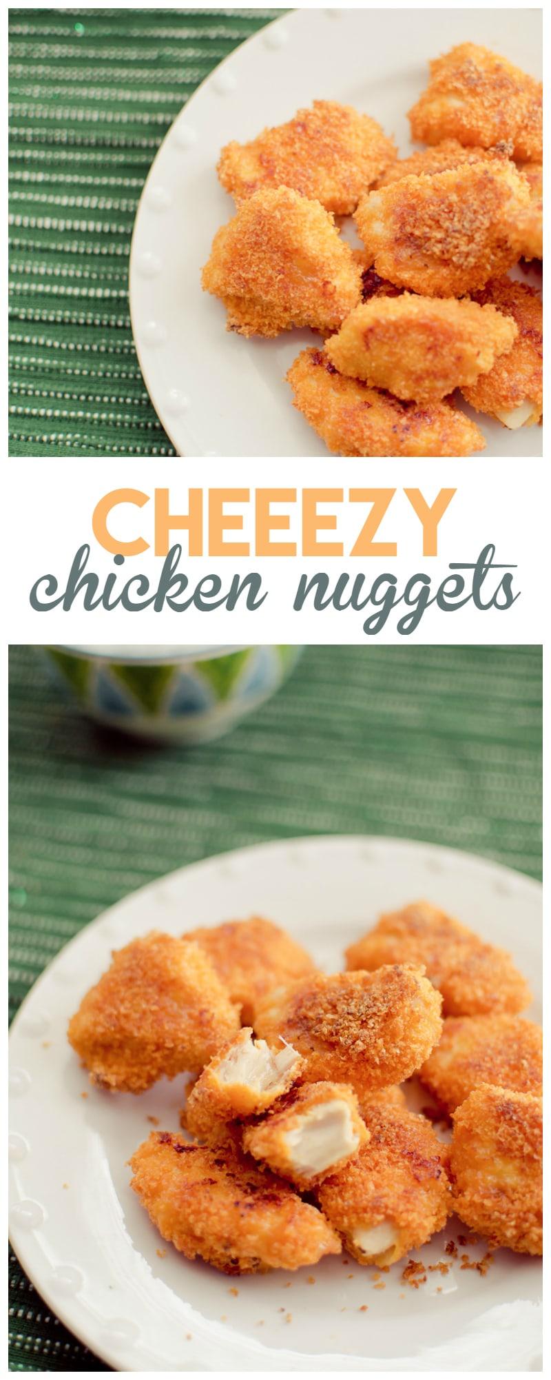cheezy chicken nuggets