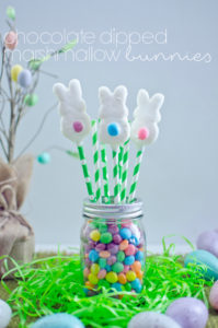chocolate dipped marshmallow bunnies