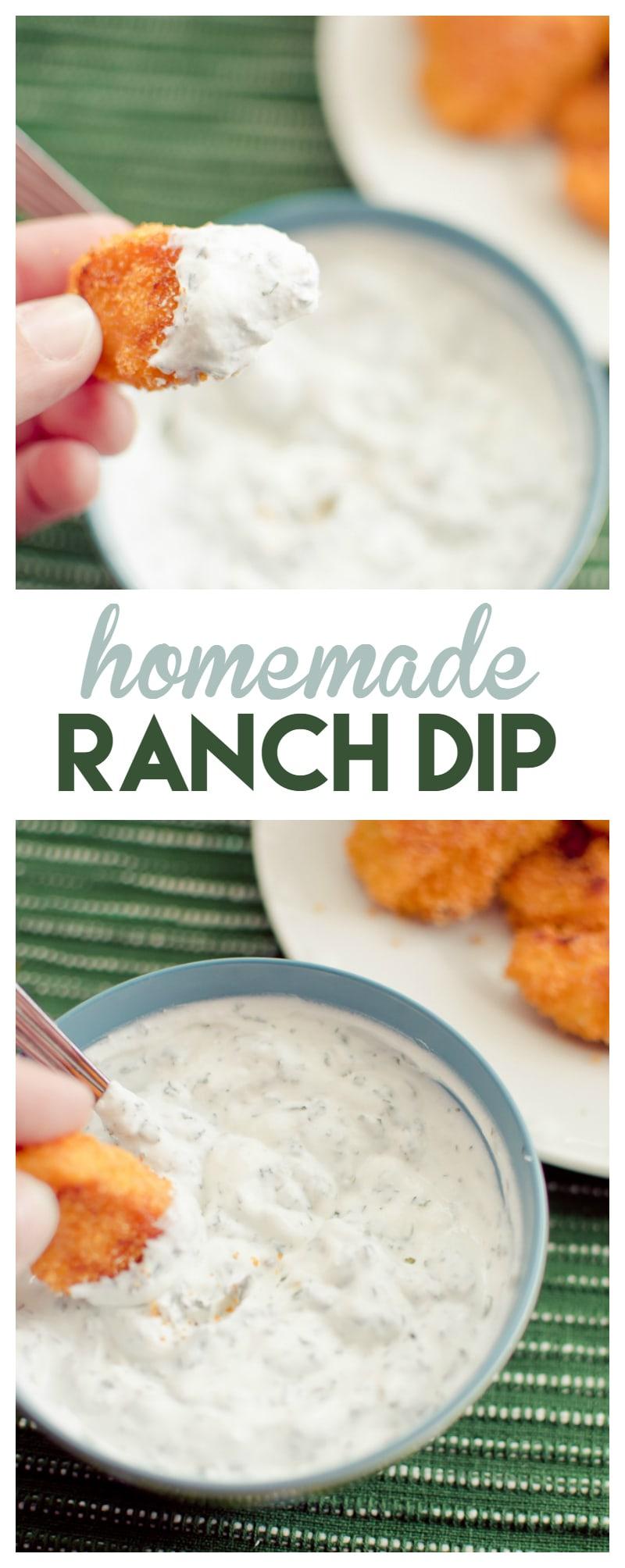 homemade ranch dip