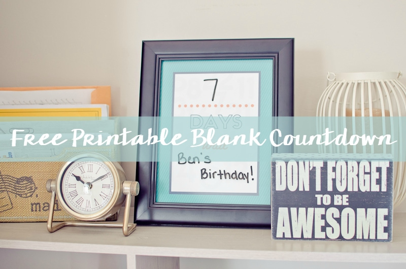 Free Printable Blank Countdown-5